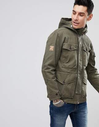 Pretty Green Four Pocket Belfast Jacket In Green