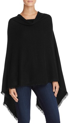 Minnie Rose Frayed Fringe Ruana Poncho $286 thestylecure.com