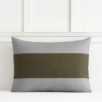 Pottery Barn Teen Bold Rugby Stripe Sham, Standard, Moss Green/Gray