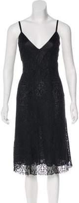 Christian Lacroix Satin-Trimmed Lace Dress
