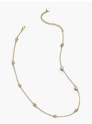 Talbots Delicate Glass Necklace - 14K Gold Plated