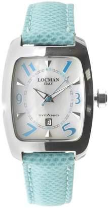 Locman Women's Blue Leather Band Steel Case Quartz Analog Watch 483MOPSK-SKKS