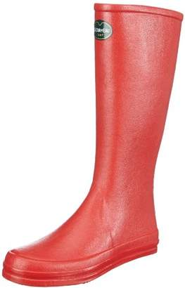Le Chameau Womens BOTTE CABOURG Rubber Boots Red Rot (ROUGE/NOIR 0348) Size: