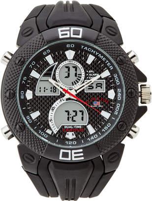 U.S. Polo Assn. US9665JC Black Rubber Watch