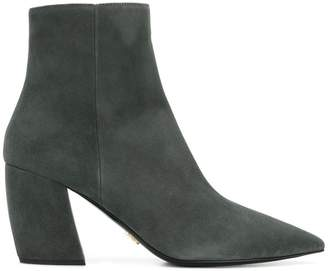 Prada pointed toe chunky heel boots