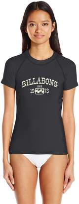 Billabong Women's Core Performance Fit Short Sleeve Swim Rashguard