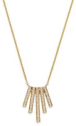 Moon & Meadow Diamond Five Bar Necklace in 14K Yellow Gold, 0.18 ct. t.w. - 100% Exclusive