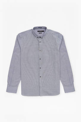 French Connection Gingham Dot Regular Fit Shirt