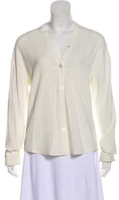 Celine Long Sleeve Silk Top