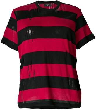 Amiri distressed striped T-shirt