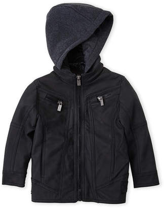 Urban Republic Toddler Boys) Faux Leather Zip-Up Hooded Jacket