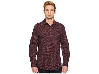 Perry Ellis Long Sleeve Geo Graph Print Dress Shirt Men's Long Sleeve Button Up