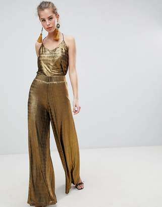 Traffic People Pleated High Waisted Flared PANTS