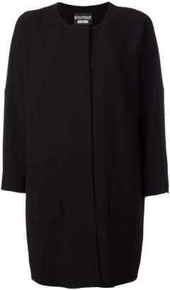 Moschino three-quarters sleeve boxy coat