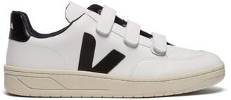 Veja V 12 Low Top Leather Trainers - Mens - White Black