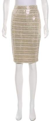 St. John Embellished Knee-Length Skirt