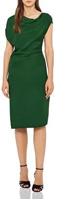 Reiss Lore Asymmetric Draped Dress