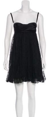 Dolce & Gabbana Bow Accent Mini Dress