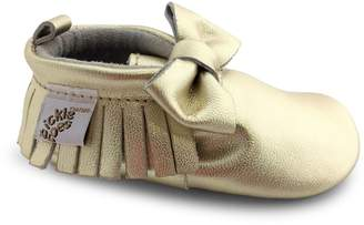 Tickle Toes Baby's Ribbon Leather Moccasins
