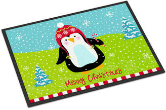 Original Penguin Caroline's Treasures Merry Christmas Happy Penguin Doormat Mat