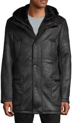 Saks Fifth Avenue Hooded Sherpa Coat