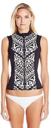 Seafolly Women's Kasbah Sunvest Rashguard $60.99 thestylecure.com