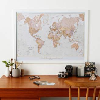 Maps International Personalised Antique World Map