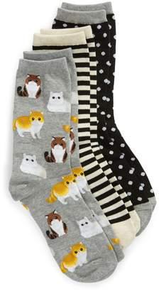 Hot Sox 3-Pack Cat Socks