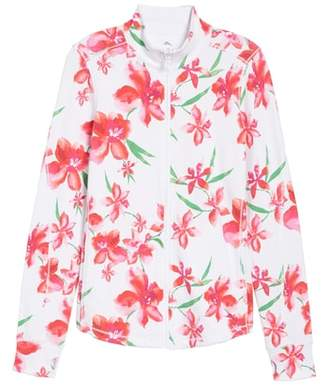 Tommy Bahama Floral Fade Stretch Cotton Zip Jacket