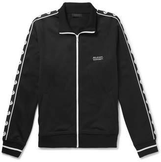Belstaff Sophnet Wensley Printed Cotton-Blend Jersey Zip-Up Sweatshirt - Black