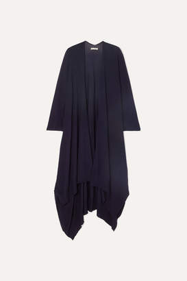 The Row Hern Merino Wool And Cashmere-blend Cape - Navy