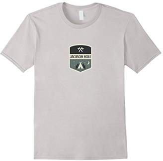 Wyoming Camping Tent and Stars - Jackson Hole T-Shirt