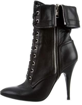 Giuseppe Zanotti x Balmain Pointed-Toe Ankle Boots