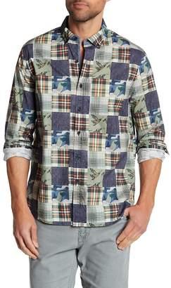 Michael Bastian Patchwork Print Sport Shirt