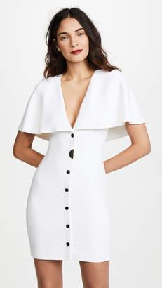 Cushnie et Ochs Celia Mini Dress with Cape Sleeves