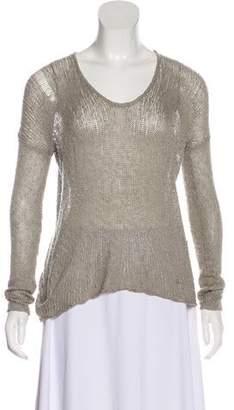 Helmut Lang Silk Knit Top