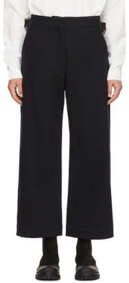Studio Nicholson Navy Brace Trousers