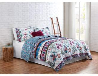 VCNY Home Multi-Color Floral Spell 2/3 Piece Bedding Quilt Set, Shams Included