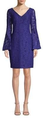 Lauren Ralph Lauren Lace Bell Sleeve Sheath Dress