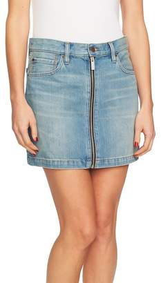 1 STATE 1.State Zip Front A-Line Miniskirt