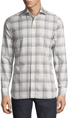 Tom Ford Plaid Cotton Sport Shirt