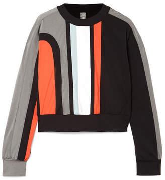 NO KA 'OI NO KA'OI - Nohona Nau Paneled Stretch Sweatshirt - Black