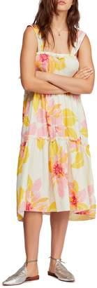 Free People Moonshine Floral Midi Dress