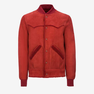 Bally Reversed Shearling Bomber Jacket