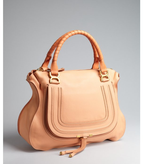 Chloé coral sand leather 'Marcie' large shoulder bag