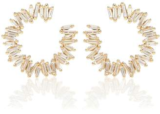 Suzanne Kalan Spiral 18kt gold earrings with diamonds
