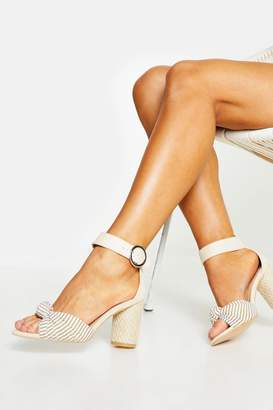 boohoo Wide Fit Espadrille Heel Sandals