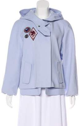 Christian Dior Hooded Zip-Up Jacket