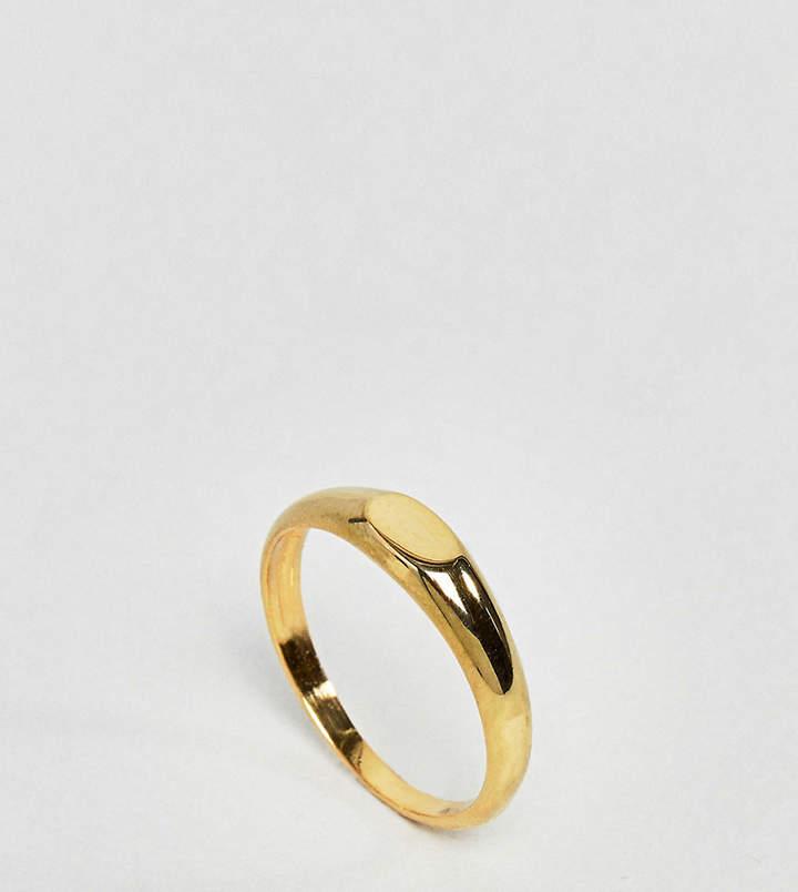 – Ring mit flachem Design aus vergoldetem Sterlingsilber