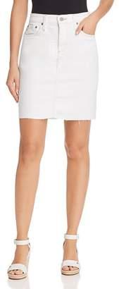 AG Jeans Erin Denim Skirt in 1 Year Neutral White